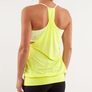Lululemon No Limits  2 in 1 Tank Clarity Yellow